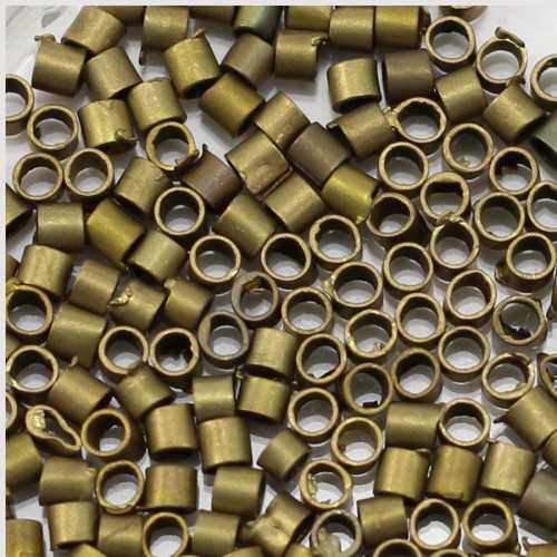 Crimp beads bronze tone 2mm x 200pcs