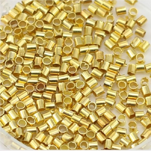 Crimp beads golden tone 2mm x 200pcs