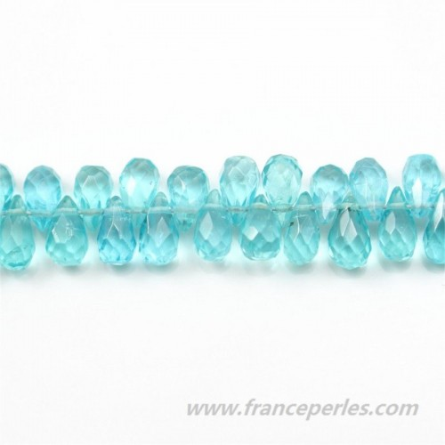 Apatite Briolette Cut 3-4x5-6mm x 4pcs