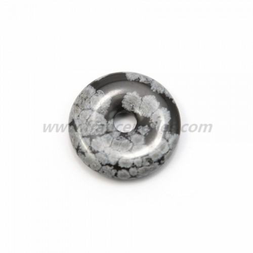 Dount obsidienne flacon de neige 30mm*6mm*4.8mm