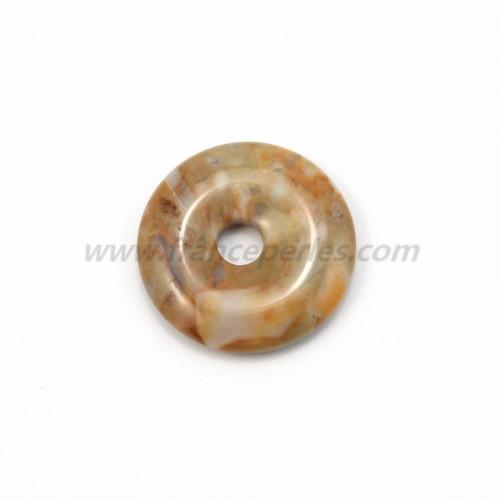 Picasso  jasper donut 30mm*6mm*4.8mm