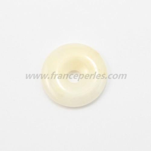 Donut  jade jaune 30mm*6mm*4.8mm
