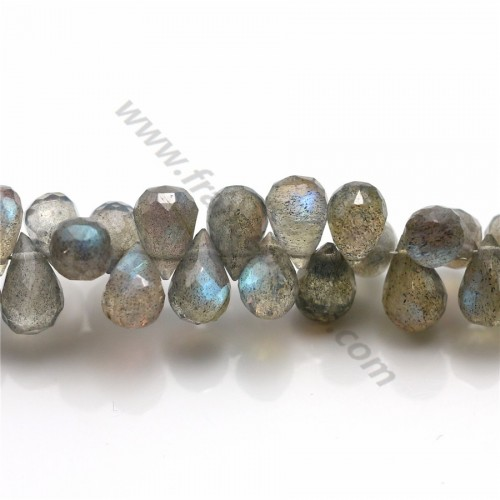 Labradorite faceted drop X 1 pc