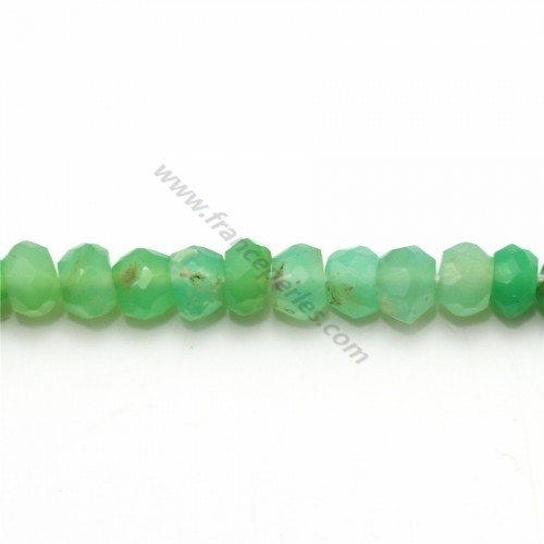 Chrysoprase faceted rondelle  4-4.5mm x 34cm