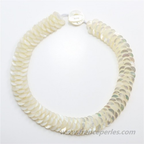 Necklace small white mother of pearl
