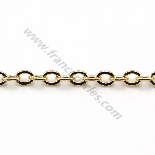 Chain oval stitch golden flash1.7*2.0mm x 1M