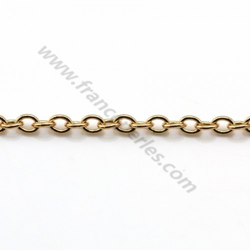 Oval chain golden flash  1*1.5mm x 1M