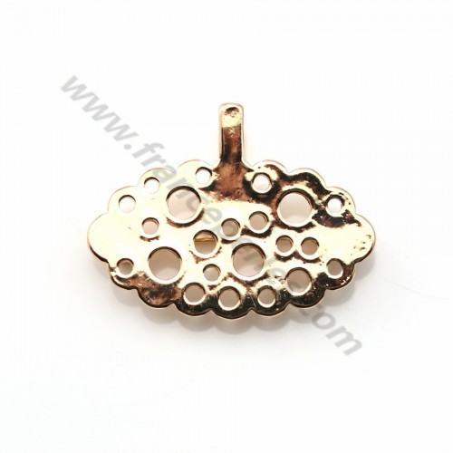 Flash gold-plated pendant brooch flower x 1pc