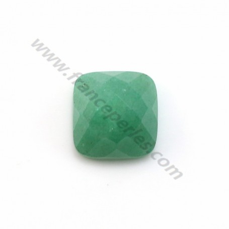 Cabochon avanturine faceted square 10mm x 1pc