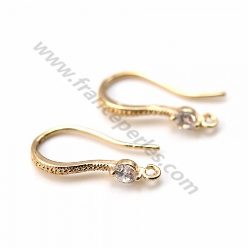 "Hook earrings Veneer by ""flash"" Gold on brass 9*17mm x 2pcs"