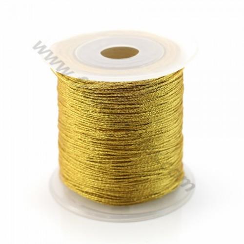 Braided golden thread polyester 0.4mm X 100 m