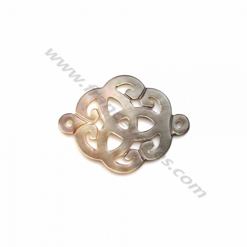 Gray mother-of-pearl celtic knot 18mm x 1pc