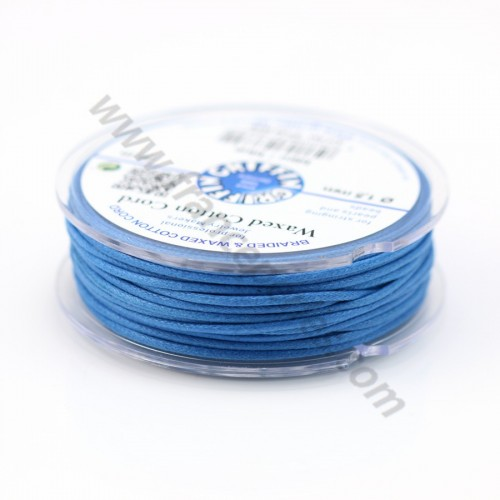 Blue waxed cotton cords 2.5mm x 5m