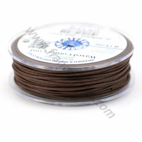 Dark brown waxed cotton cords 1.5mm x 20m