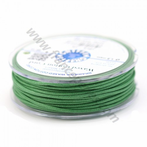 Olive waxed cotton cords 2.0mm x 5m