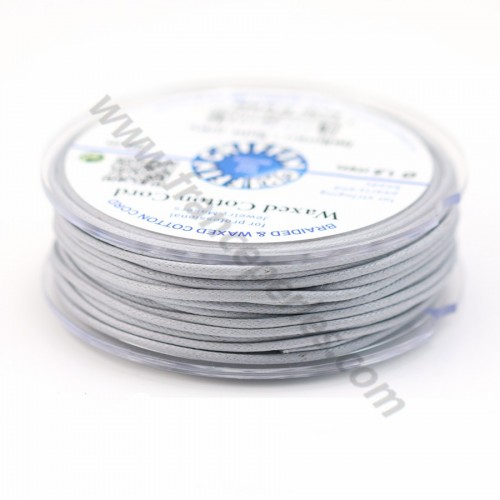 Grey waxed cotton cords 1.5mm x 20m