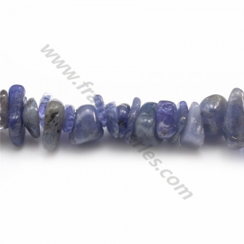 Tanzanite in forms chips x 80cm