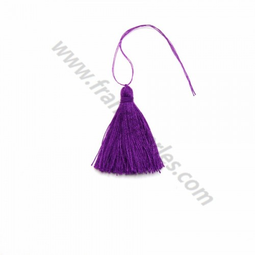 Dark purple pompon in cotton 30mm x 1pc