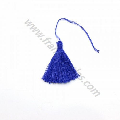 Dark blue pompon in cotton 30mm x 1pc