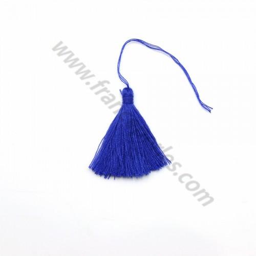 Dark blue pompon in cotton 30mm x 1pc