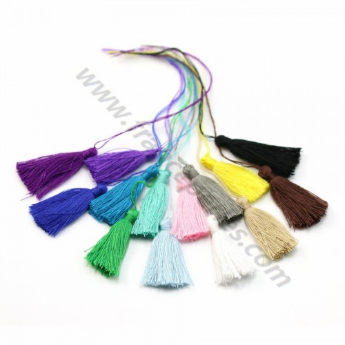Pompon en coton multicolore 30mm x 14pcs