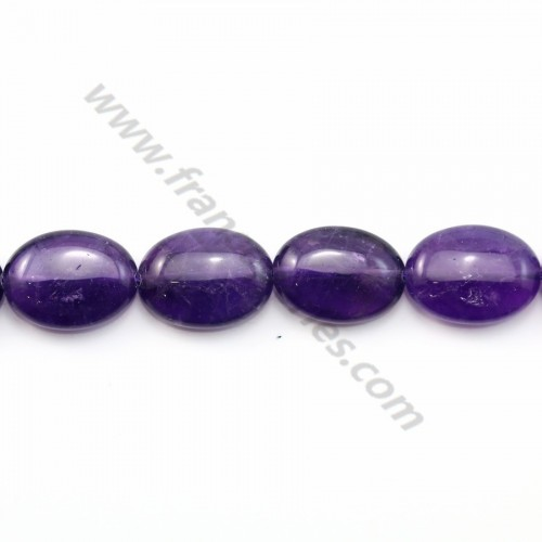 Amethyst oval 13*18mm x 1pc