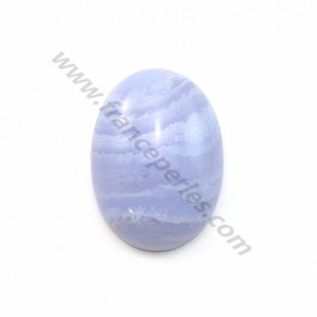 Cabochon oval chalcedony 10*14mm x 1pc