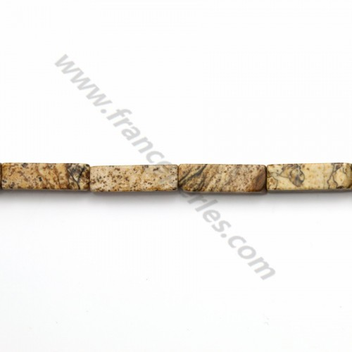 Picture jasper tube 4*13mm x 40cm