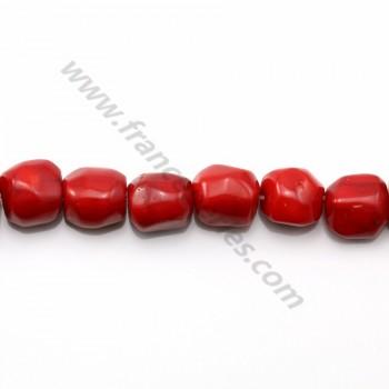 Bambou de mer teinte rouge tonnelet moyen x 40cm