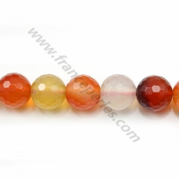 Cornelian Faceted Round 12mm x 40cm