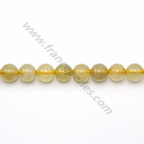 Rutile quartz round 6mm x 40cm