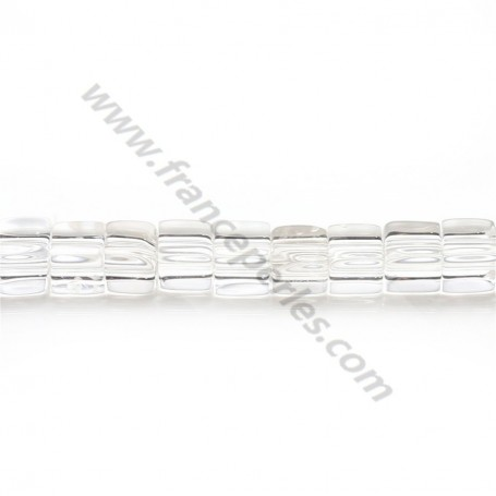 Rock crystal quartz faceted flat round 6mm x 40cm