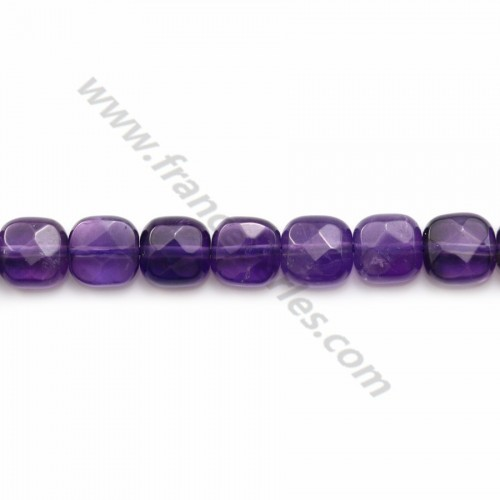 Amethyste faceted square 6mm x 4pcs