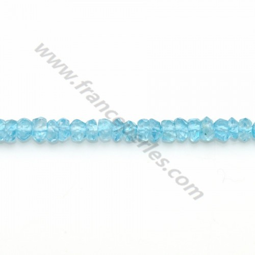 Blue Topaz facet rondelle 2.5-3mm x 33cm