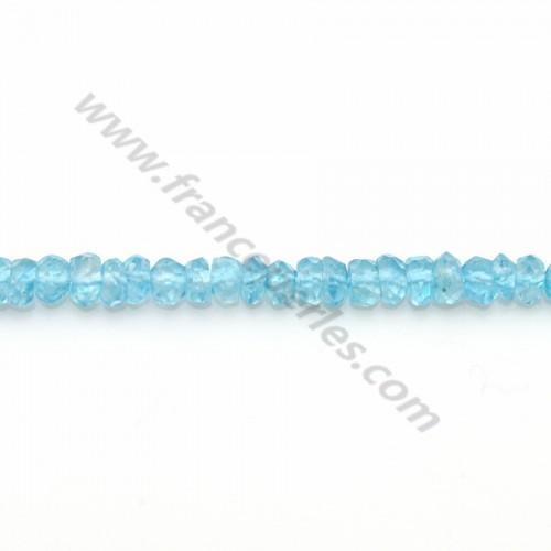 Topaze bleu rondelle facettée 2.5-3mm x 33cm
