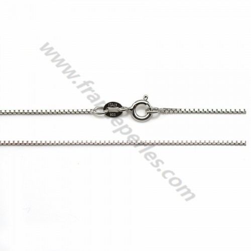 925 sterling silver rhodium chain 0.7mm x 45cm