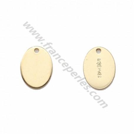 14 carats gold filled oval tag 5.5*7.3mm x 2pcs