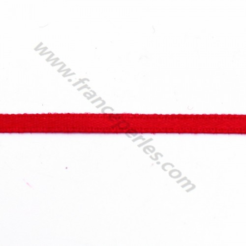 red Thread polyester Double face satin 3mm X 5 m