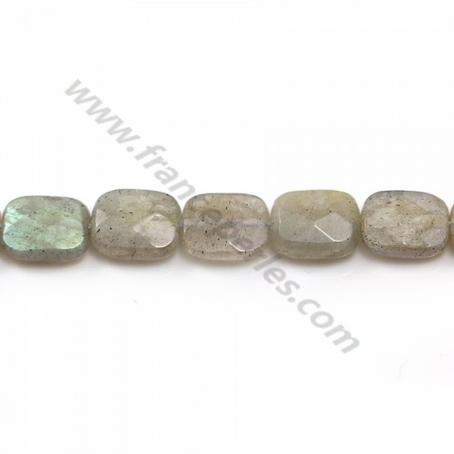 Labradorite Faceted Rectangle 7*10mm x 4pcs