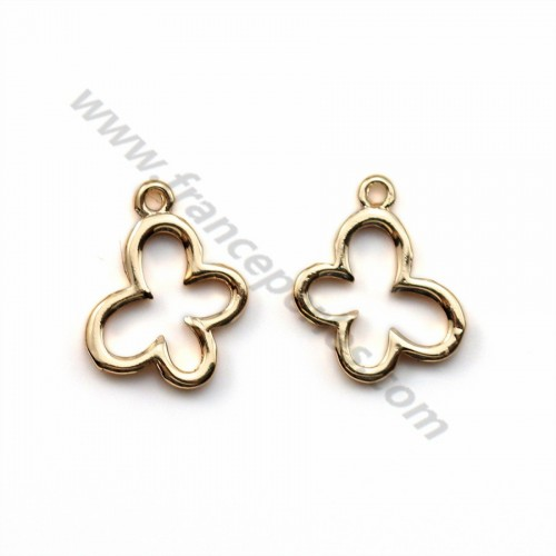 """Butterfly charm by """"flash"""" gold on brass  9*11mm x 5pcs"""