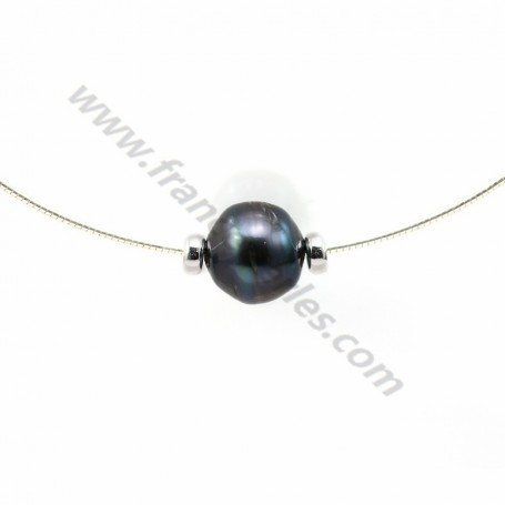 Necklace tahiti pearl straling silver 925 45cm  x 1pc