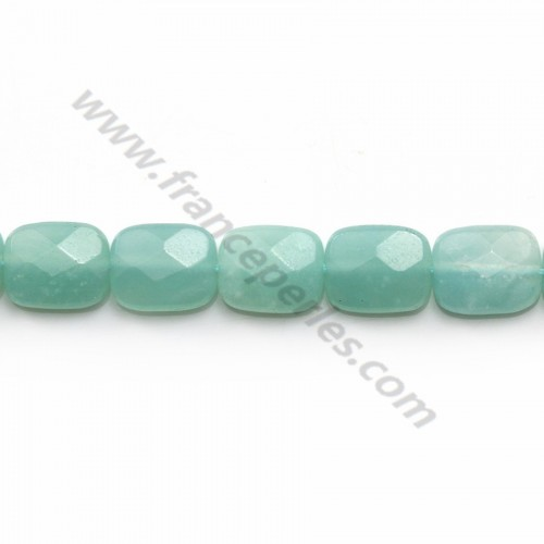 Amazonite faceted rectangle 8x10mm x 5pcs