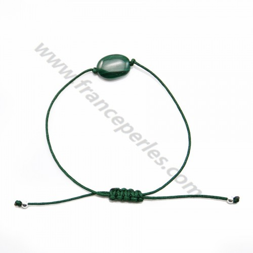 Bracelet cordon Malachite