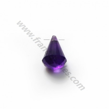 Amethyste faceted pyramid drop x 1pc