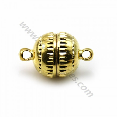 Golden tone magnetic clasp 10mm  x 10pcs