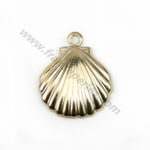 Gold filled 14k shell charm 11x11mm x 2pcs
