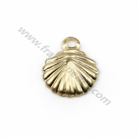Gold filled 14k shell charm 7x7mm x 4pcs