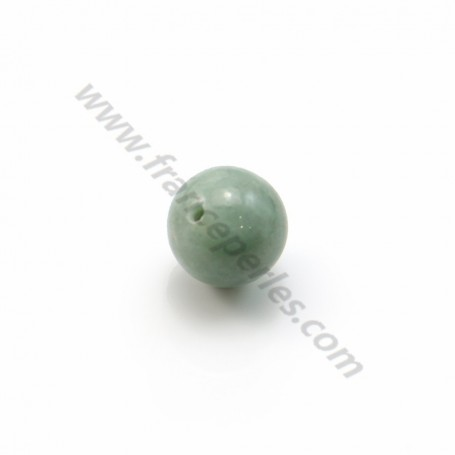 Natural jade half-drilled 8mm x 2pcs