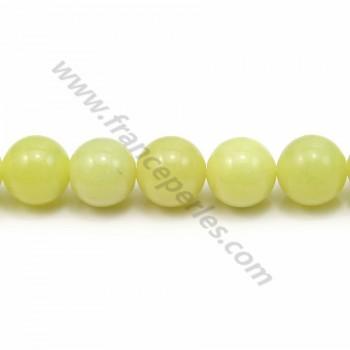 Jade lemon rond 10mm x 40cm