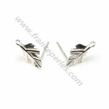 925 sterling silver feather charm 24mm x 1pc